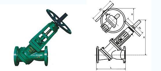 js45y手动y型料浆阀图片
